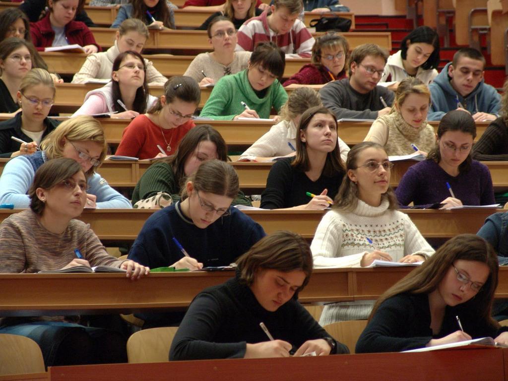studenti amfiteatru